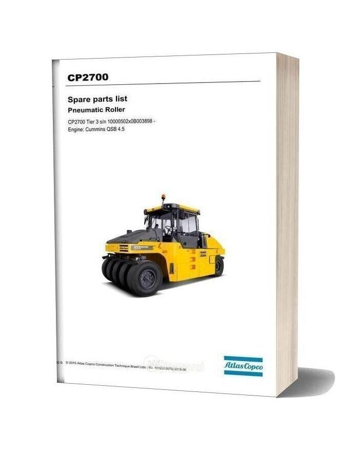Dynapac Cp2700 (T3) Spare Parts Catalogue
