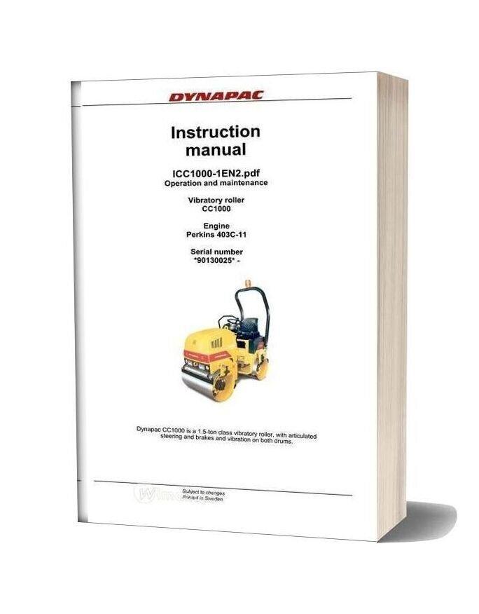 Dynapac Mini Roller Cc1000 1 En Instruction Manual