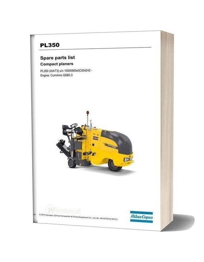 Dynapac Pl350 Spare Parts List 4812270215
