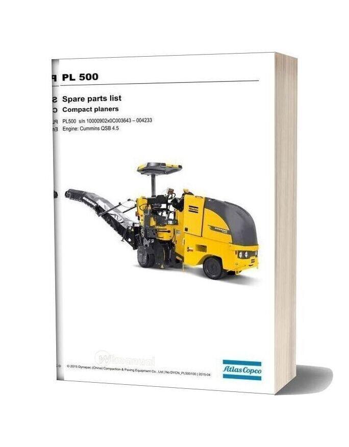 Dynapac Pl500 Spare Parts Catalogue 511834