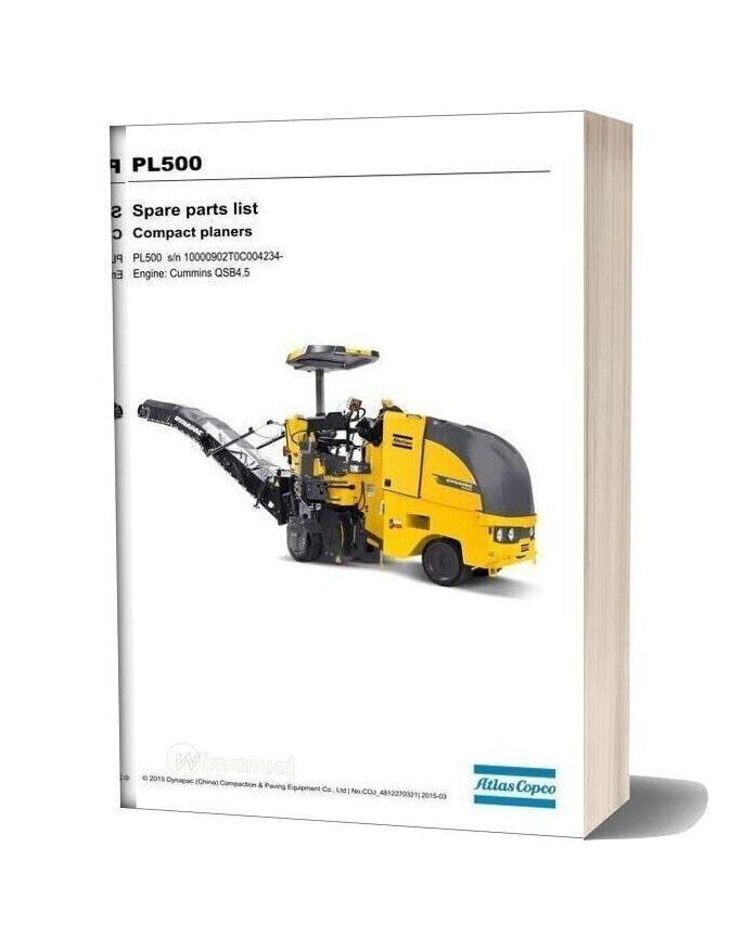 Dynapac Pl500 Spare Parts List 4812270321