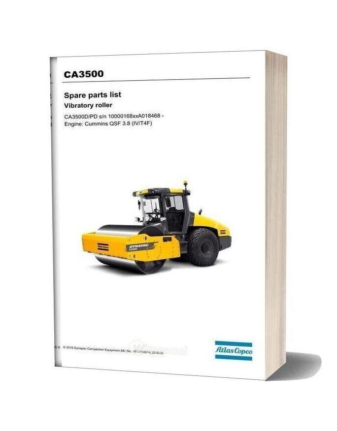 Dynapac Vibratory Roller Ca3500 Parts Manual