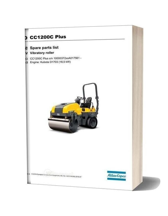 Dynapac Vibratory Roller Cc1200c Plus Parts Manual