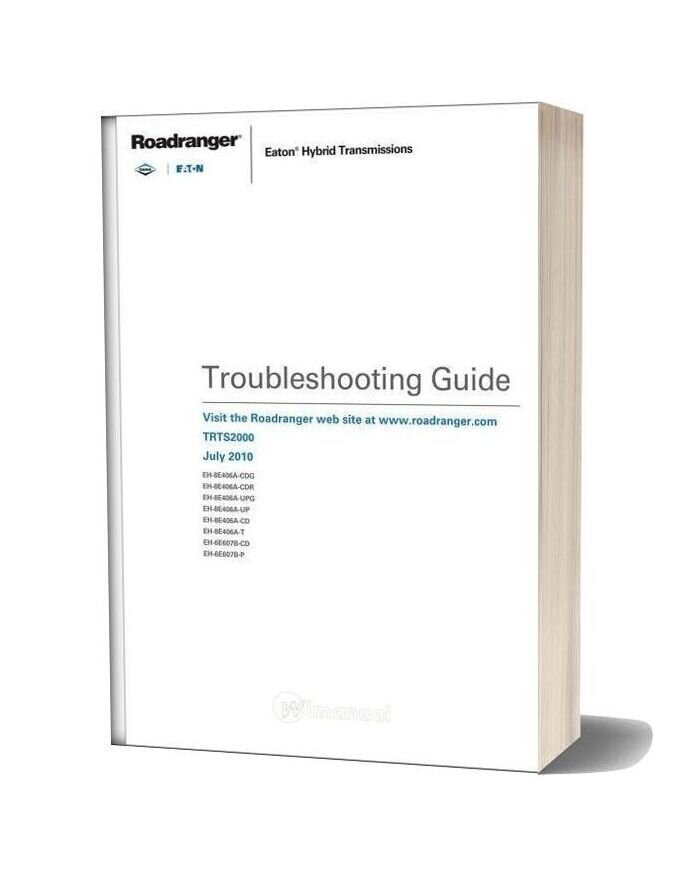 Eaton Fuller Hybrid Transmissions Troubleshooting Guide (Trts2000)