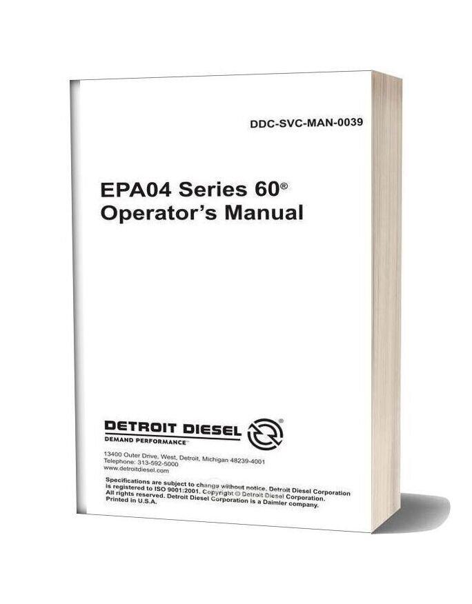 Epa04 Series 60 Operator S Manual Ddcsn Detroit