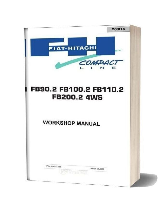 Fiat Hitachi Fb90 100 110 200 2 4ws Workshop Manual