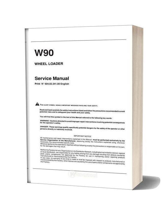 Fiat Kobelko W900 Shop Manual