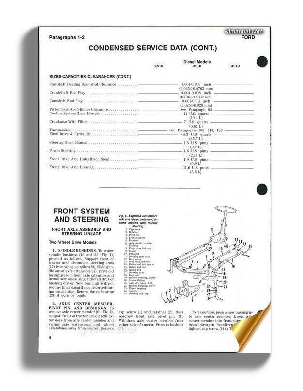 2910 ford tractor wiring diagram ford 2810 2910 3910 shop manual  ford 2810 2910 3910 shop manual