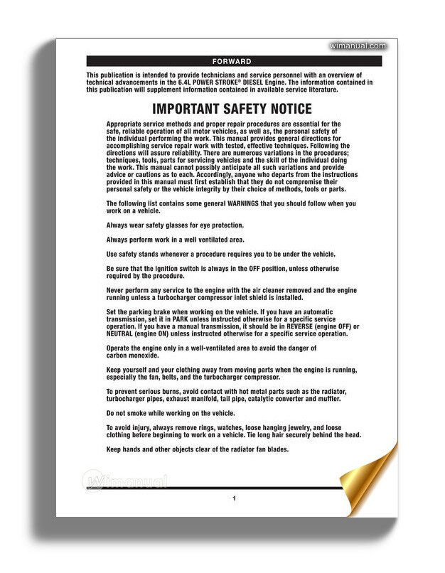Rebuilding The Ford 6 4l Power Stroke Manual Guide