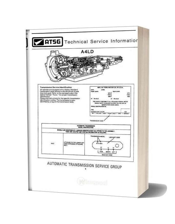 Ford A4ld Automatic Transmition Service Manual