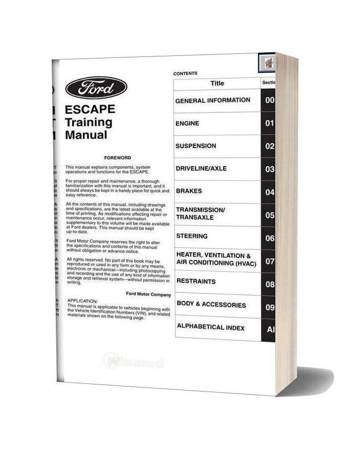 Ford Escape Training