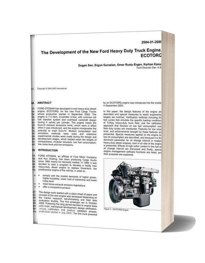 Ford Heavy Duty Truck Engine