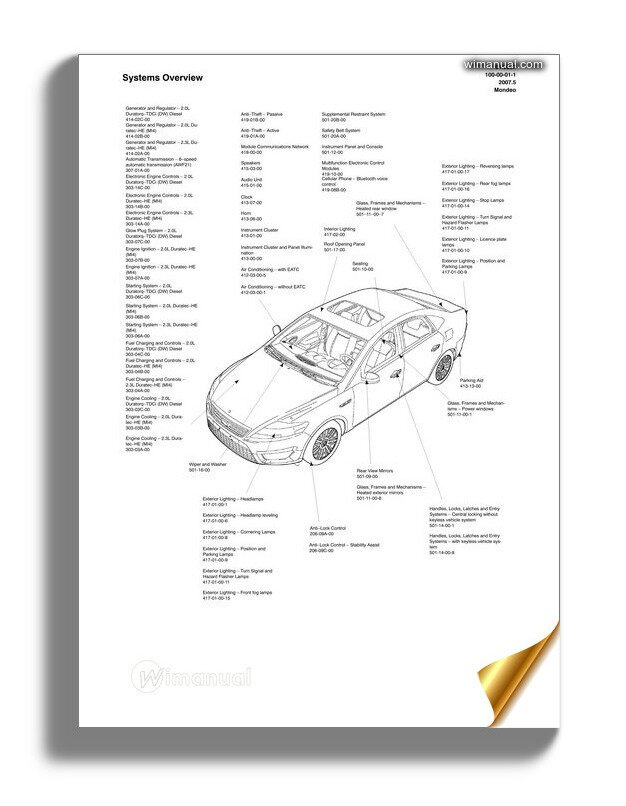 mondeo wiring diagram ford mondeo 08 electrical system taiwan  ford mondeo 08 electrical system taiwan