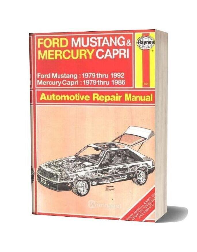 Ford Mustang 79 92 Capri 79 86 Workshop Manual