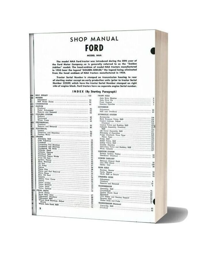 Ford Naa Shop Manual