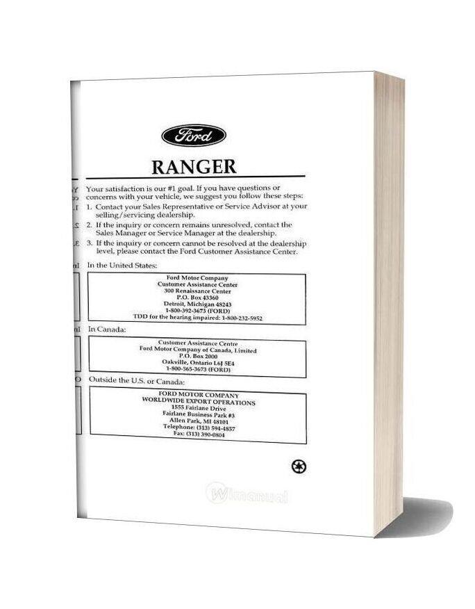 Ford Ranger 1996 Repair Manual