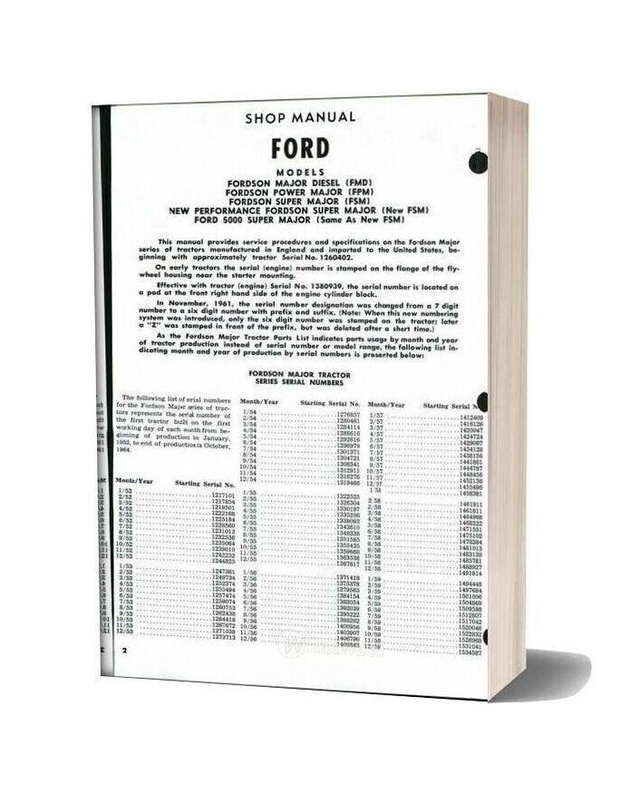Ford Son Major Power Super Shop Manual
