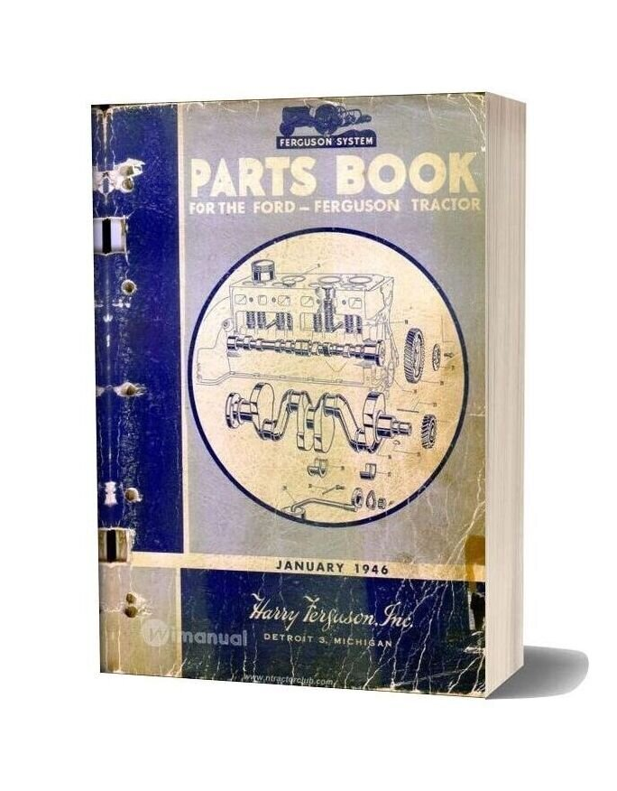 Ford Tractor Parts Book 1946 January Edition