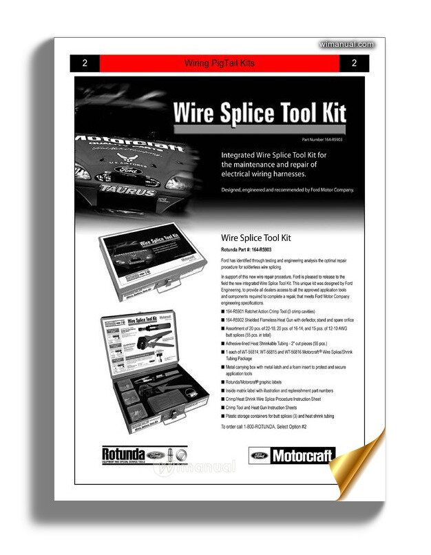 ford wiring pigtail kits identification guide