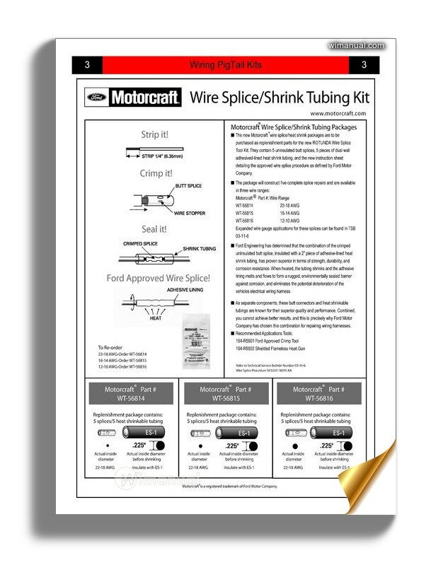 22 pa wiring ford wiring pigtail kits identification guide  ford wiring pigtail kits identification