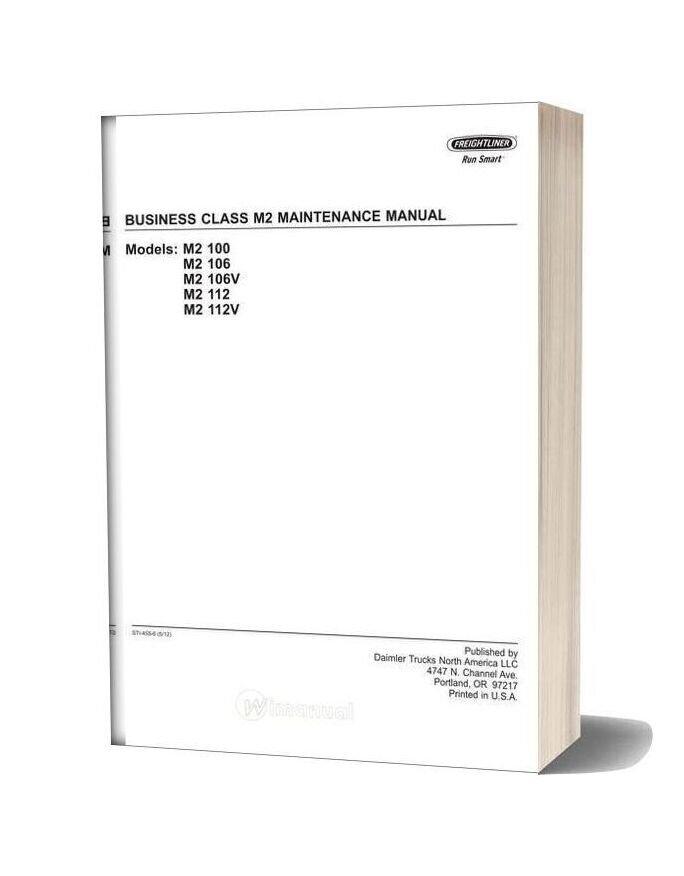 Freightliner Business Class M2 Maintenance Manual Cd2