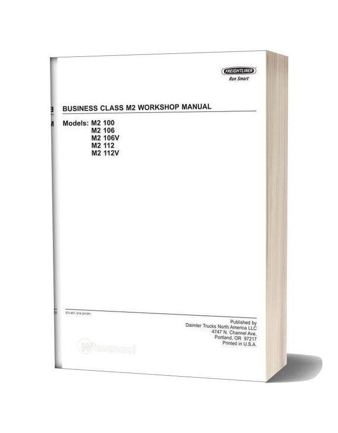 Freightliner Business Class M2 Workshop Manual