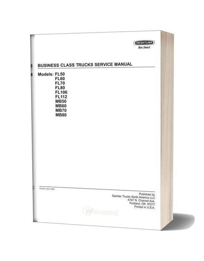 Freightliner Business Class Trucks Service Manual