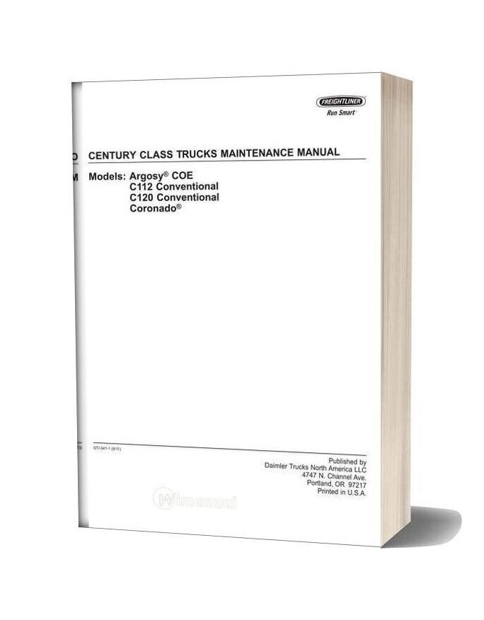Freightliner Century Class Trucks Maintenance Manual