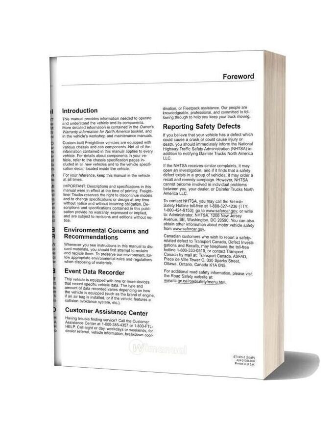 Freightliner Columbia Operation Manual