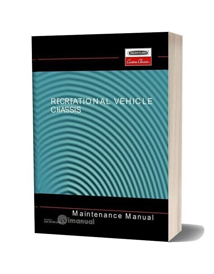 Freightliner Recreational Vehicle Chassis Maintenance Manual