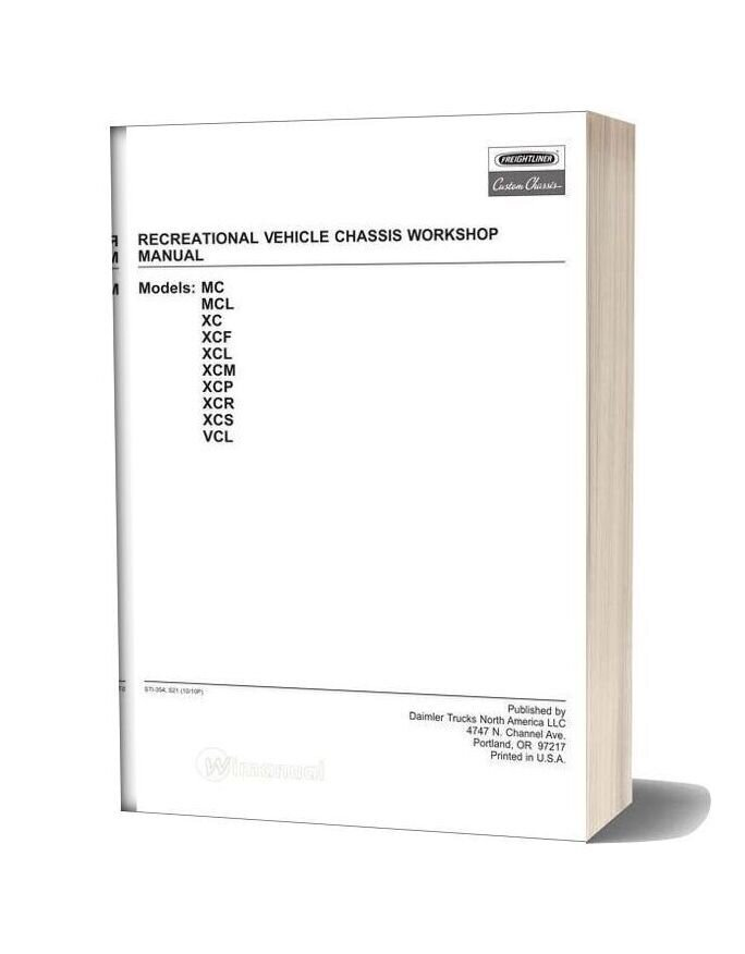Freightliner Recreational Vehicle Chassis Workshop Manual