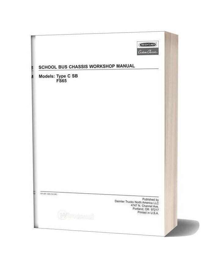 Freightliner School Bus Chassis Workshop Manual