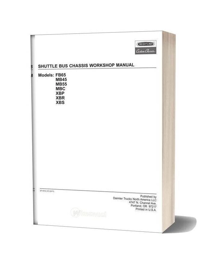 Freightliner Shuttle Bus Chassis Workshop Manual