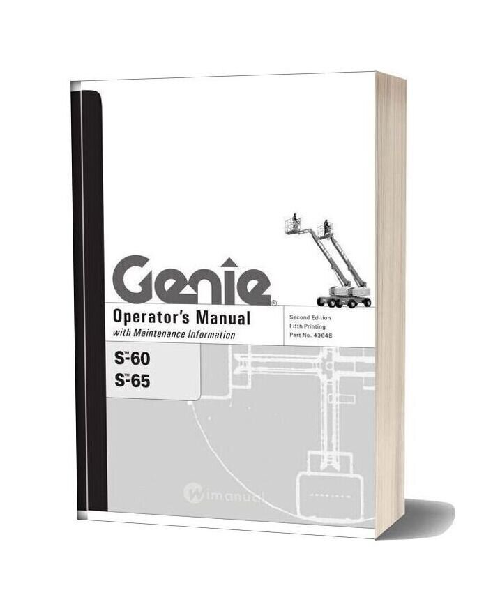 Genie S60 & S65 Operators Manual