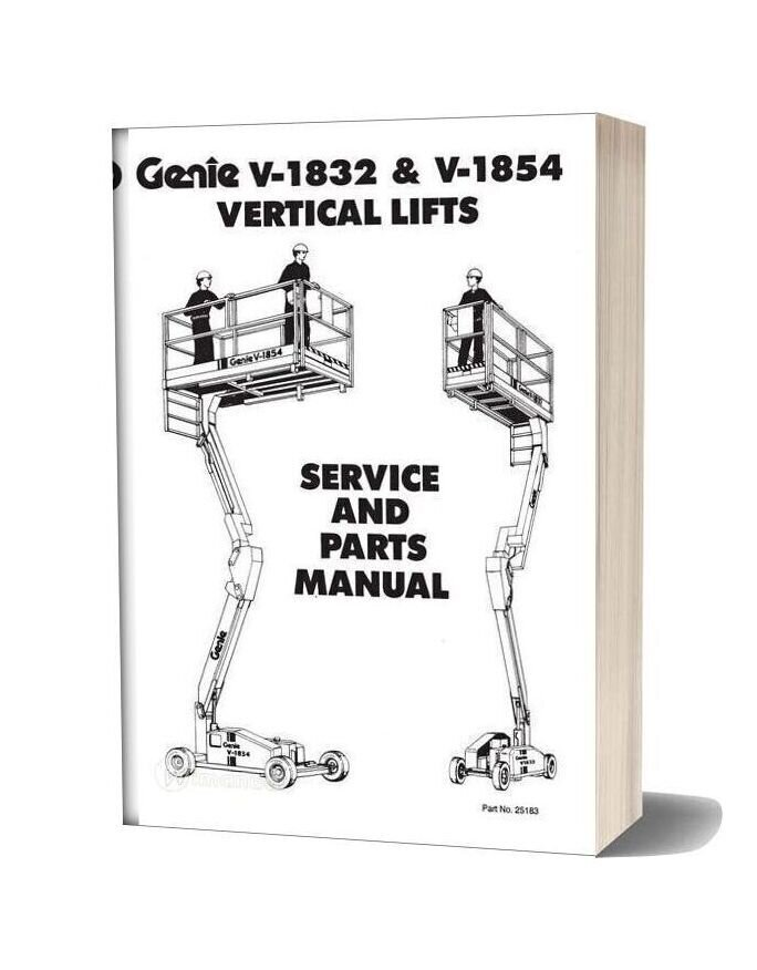 Genie Scissors Lift V 1932 And V 1854 Parts Manuals