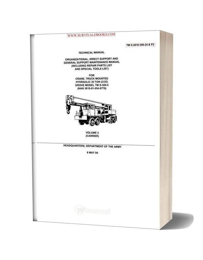 Grove Crane Tm S 300 5 Technical Manual