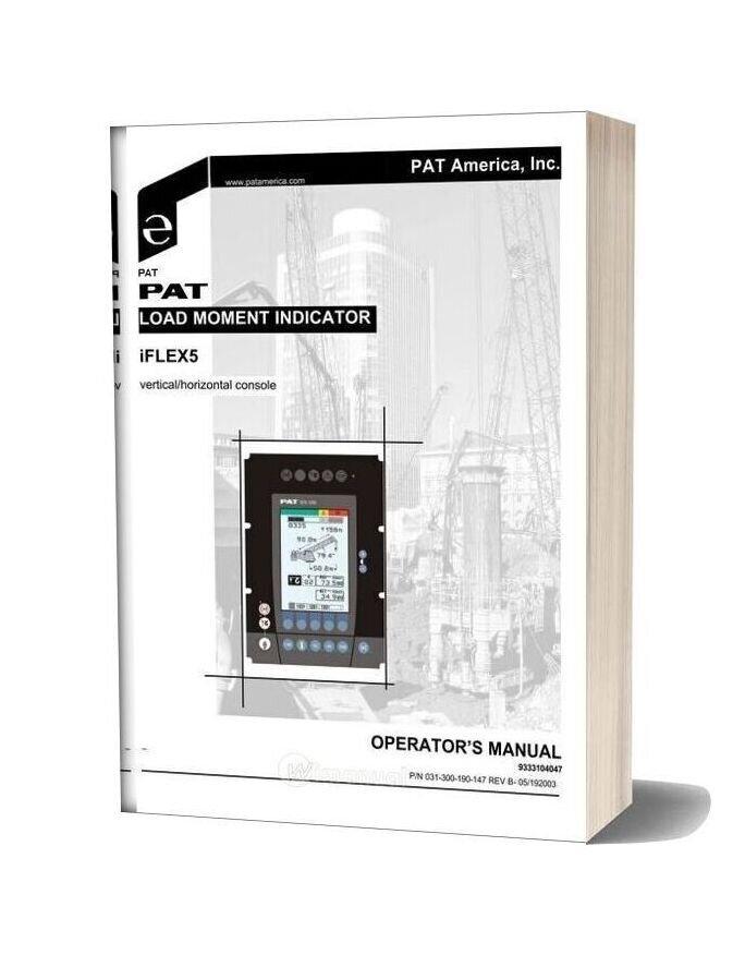 Grove Iflex5 Pat Load Moment Indicator Operator Manual