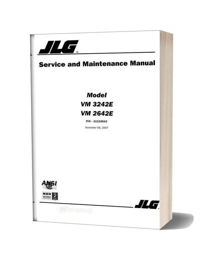 Grove Jlg Vm3242e Servicemaintenance