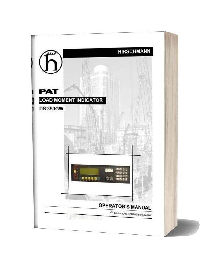 Grove Pat Load Moment Indicator Ds 350gw Operator Manual