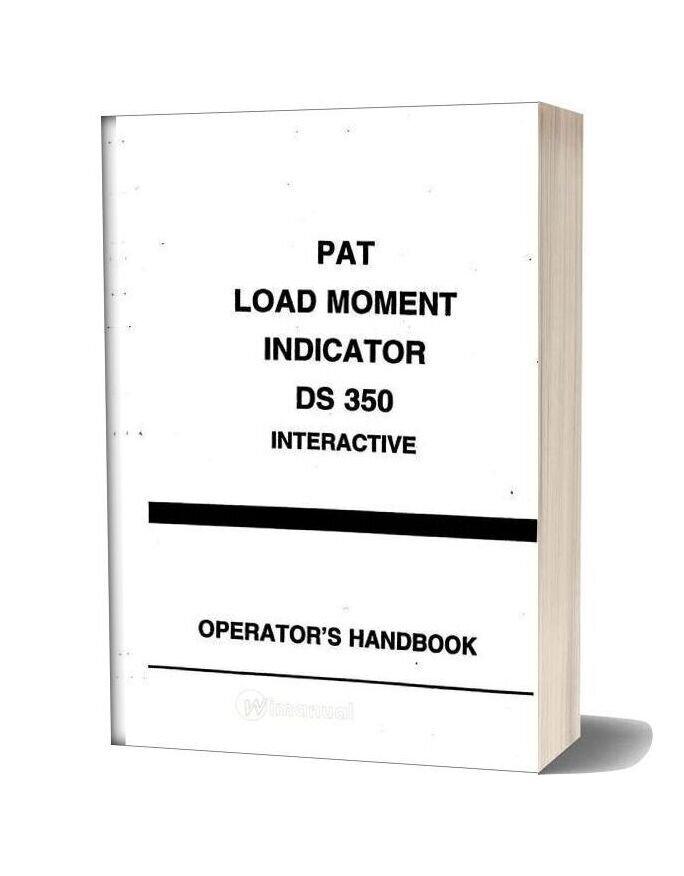 Grove Pat Load Moment Indicator Ds350 Operator Manual