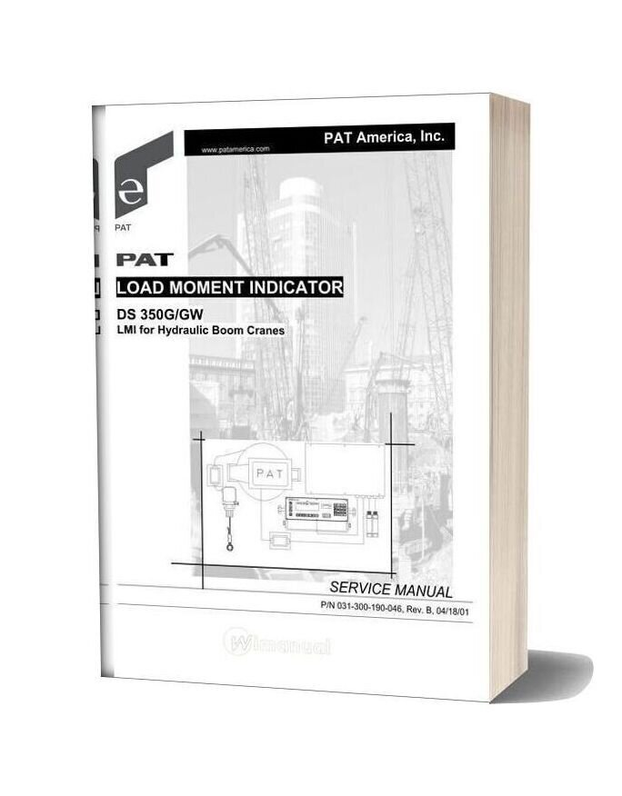 Grove Pat Load Moment Indicator Ds350g Gw Service Manual