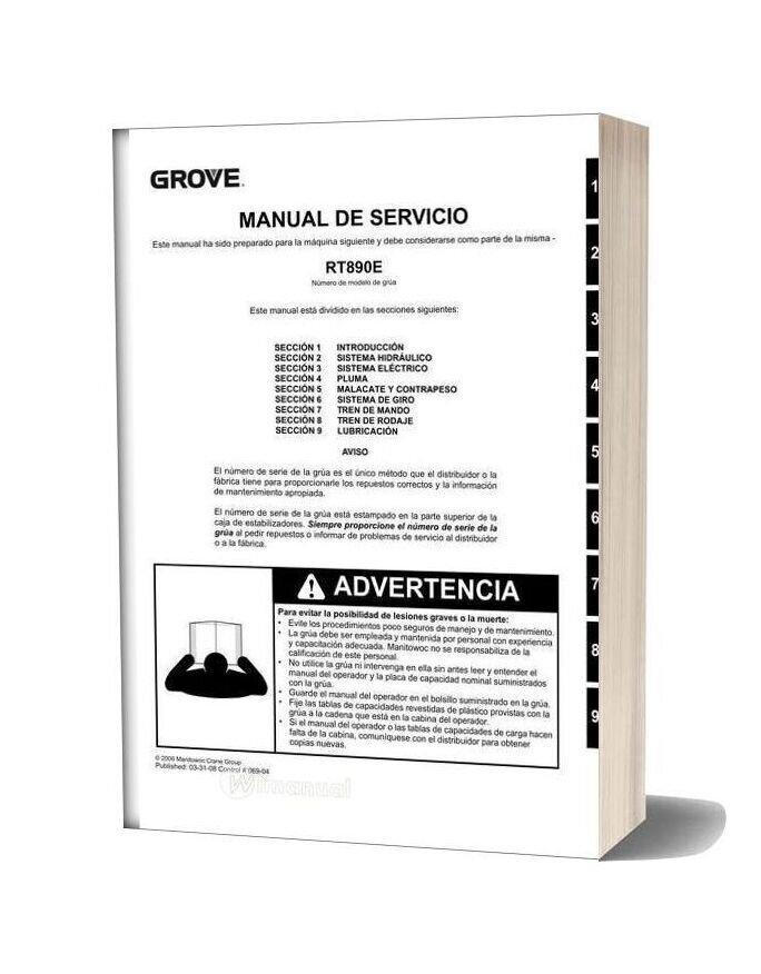 Grove Rt890e Manual Service