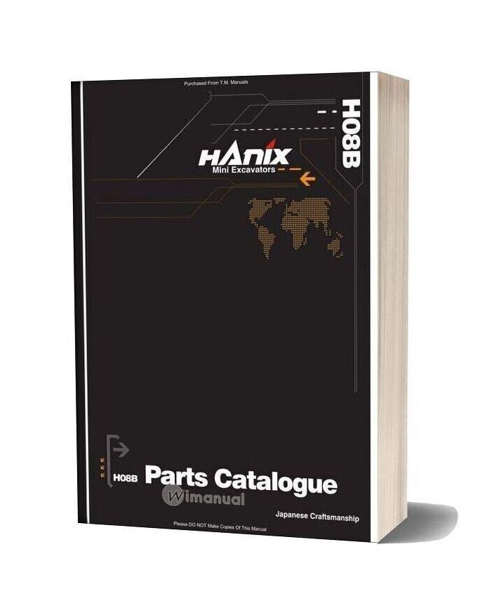 Hanix H08b Parts Catalog