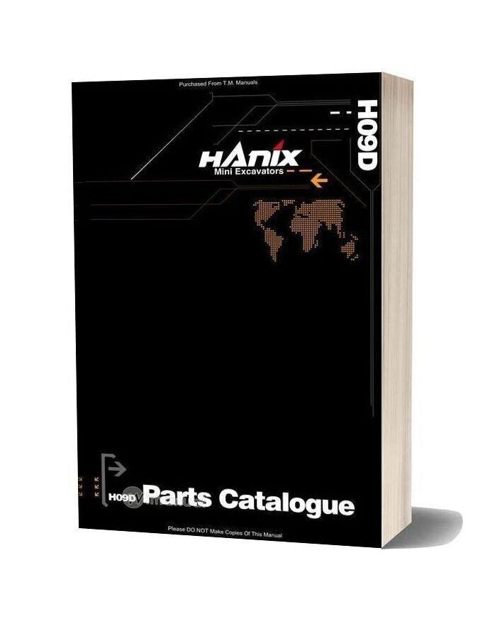 Hanix H09dpc Parts Catalog