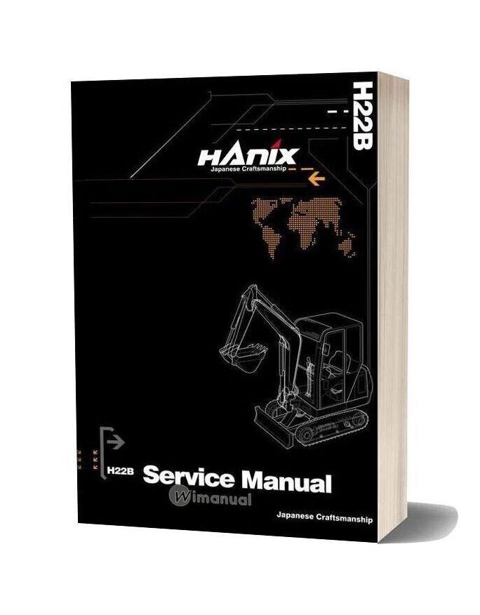 Hanix H22b Mini Excavator Service And Parts Manual