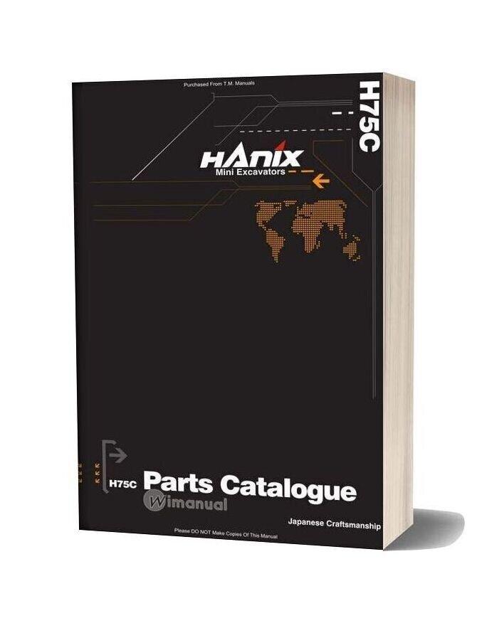 Hanix H75c Parts Catalog