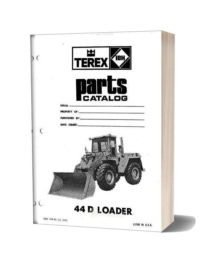 Hanomag & Hanomag Built Terex 44d Pm 3091159m1 Parts Book