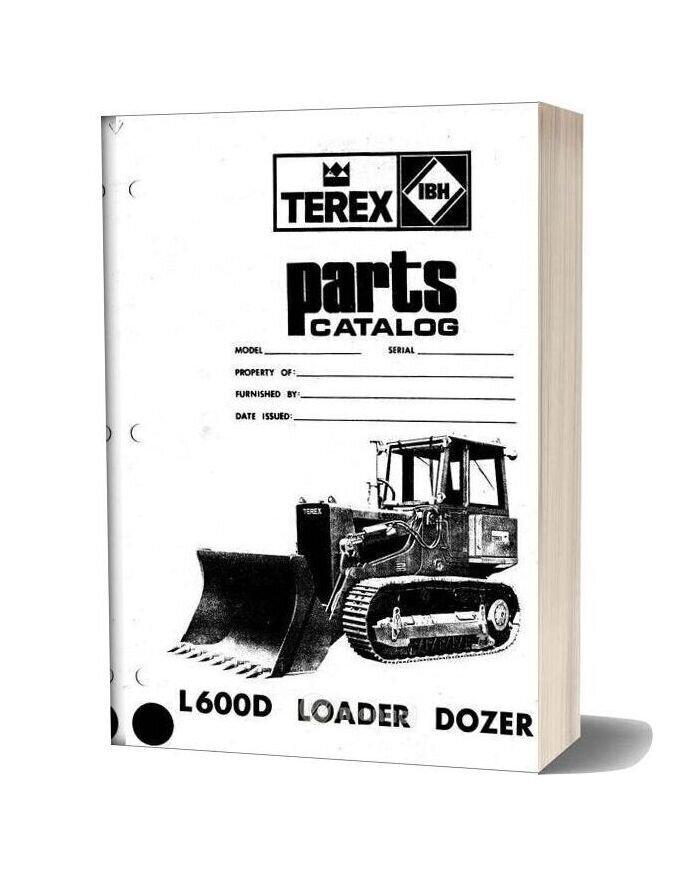 Hanomag & Hanomag Built Terex L600d Pm 3091140m1 Parts Book