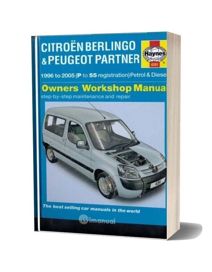 Haynes Manual Repair Citroen Berlingo Peugeot Partner 1996-2005