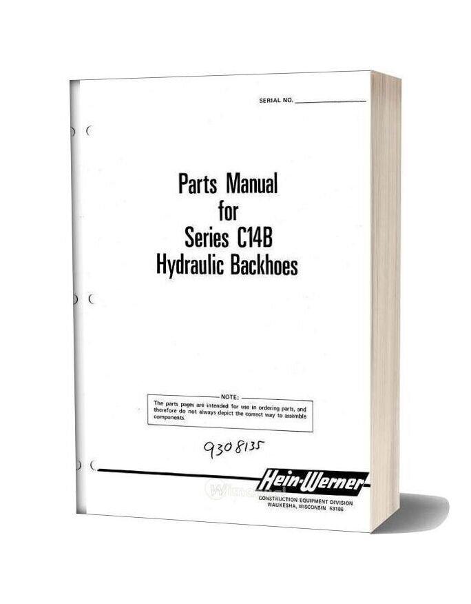 Hein Warner C14b Pm 9308135 Parts Book